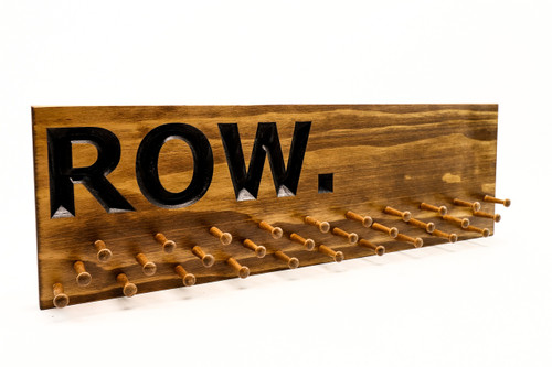 ROW, Rowing Medal display 10, 19 or 30 PEGS-gifts for rowers- gifts for crew team (CWD-643)