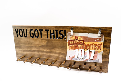 YOU GOT THIS! Marathon Medal display 23x9-running medals and race bibs holder-running medals