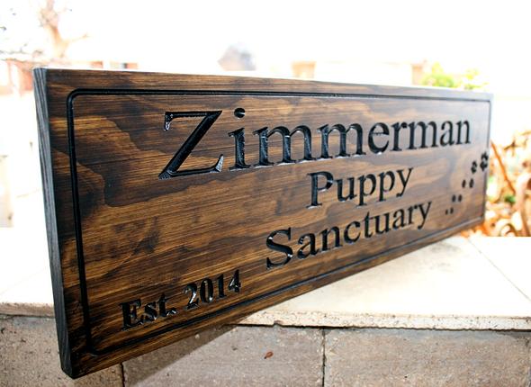 Puppy Sanctuary Dog sign
