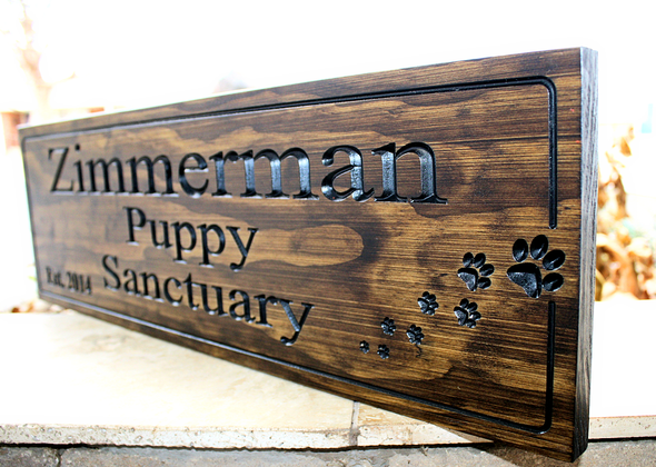 Puppy Sanctuary Dog sign
