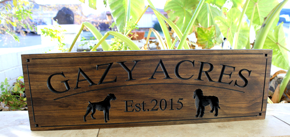 custom dog sign
