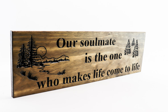 Soulmate Sign, cabin, lake house, rustic decor