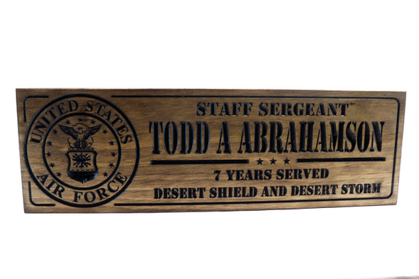 US Air Force  SIGN -Plaque Custom Military Sign