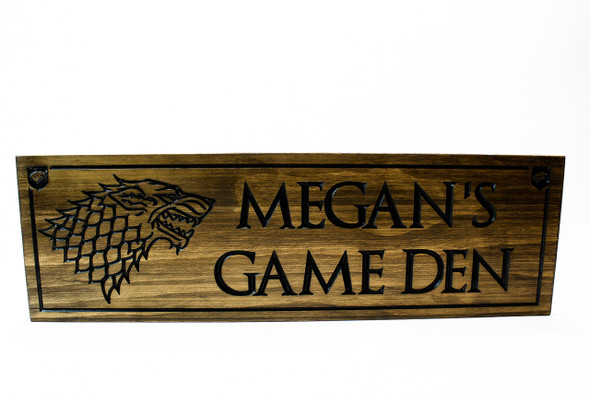 Dire wolf Sign-Game Room Sign