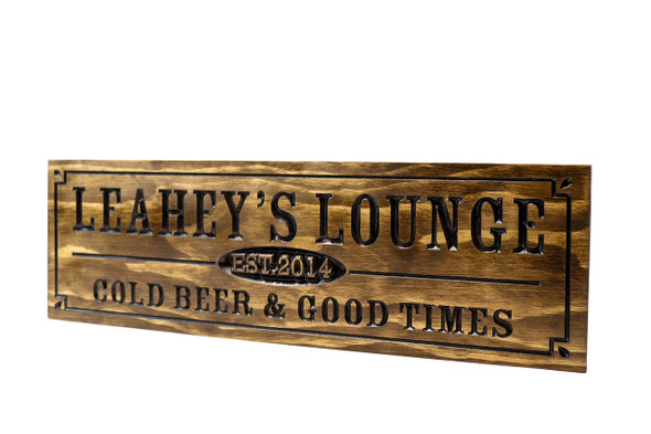 HOME Bar Sign cold beer & good times