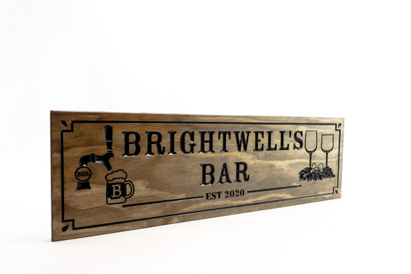Tavern Sign-Restaurant Sign-Bar Sign-Home Bar sign-Personalized Wood Sign-beer tap-wine glasses