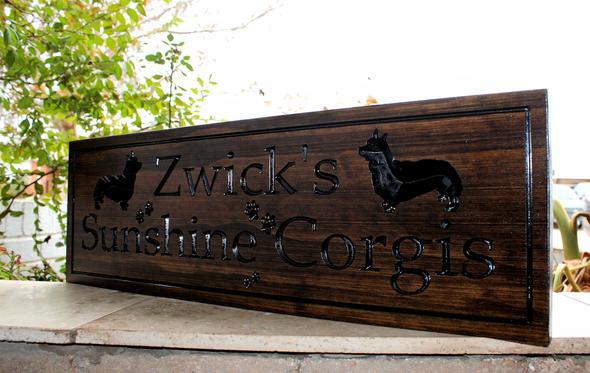 Corgi DOG Sign - Corgi Kennel Sign