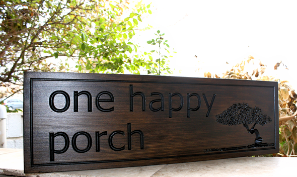 Porch Sign with tree