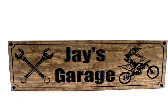 Motorcycle Sign-Dirt bike sign-biker Sign (CWD-415)