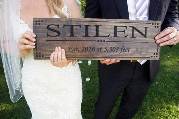 wedding family name sign