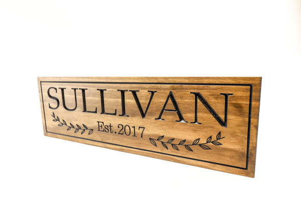 Family name sign with established year