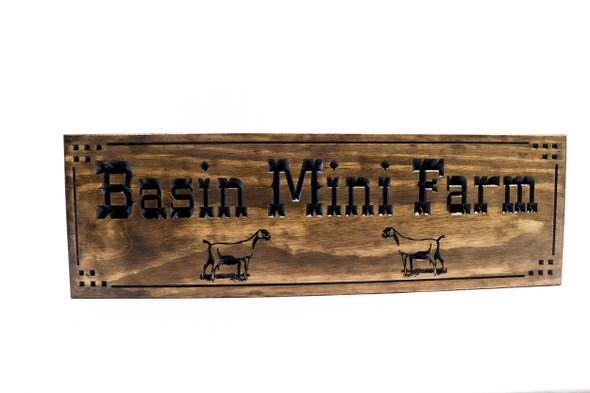 Goat farm sign |Wooden goat sign | Ranch entrance signs