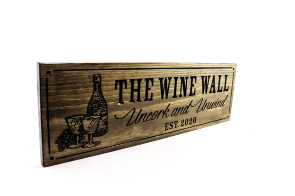 Wine bar, home bar sign