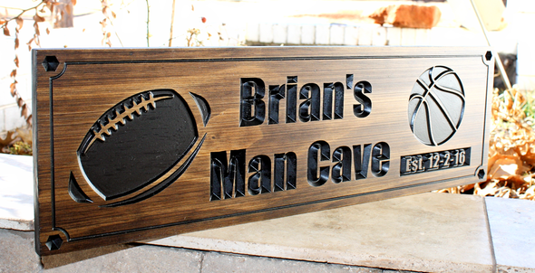 Football - Basketball Man Cave/Sports Sign
