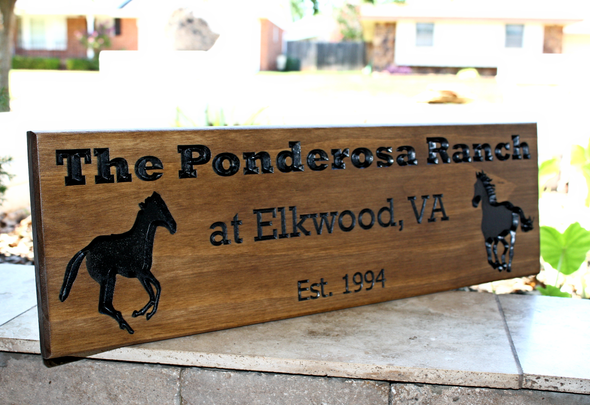 Horse Farm/Ranch Sign