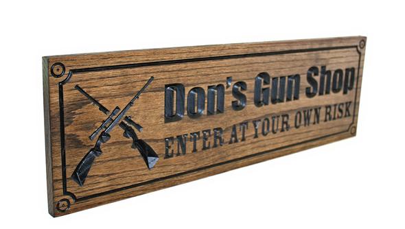 Gun room OAK Sign