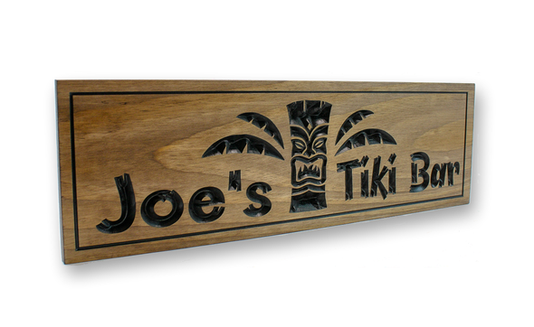 tiki bar outdoor patio sign