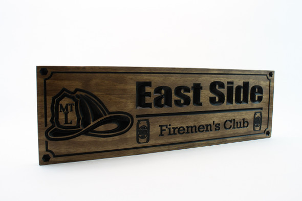 firefighter plaque-firefighter helmet sign