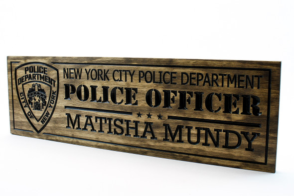 NEW YORK POLICE DEPARTMENT SIGN (1)
