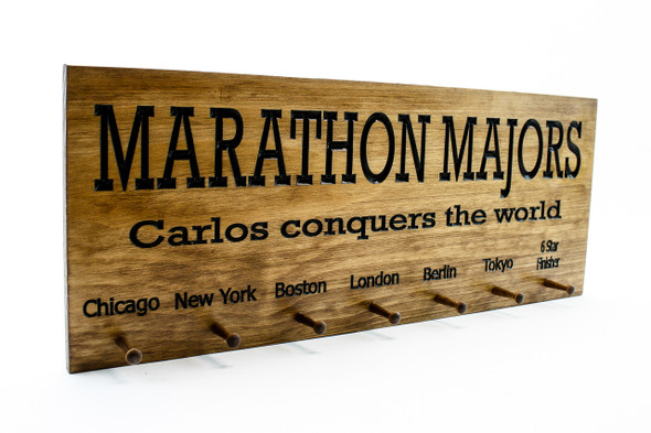 running medal holder for all 6 major marathons