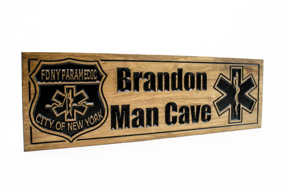 FDNY paramedic wooden plaque-wooden sign