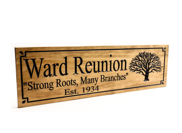 Family Reunion wooden sign - Family Reunion Plaque with tree of life