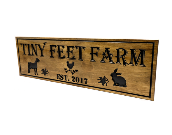 chicken farm wooden sign