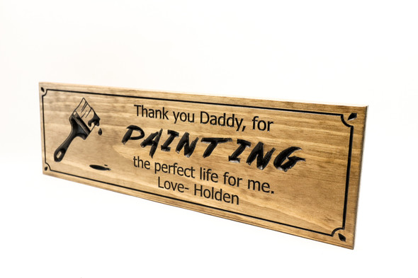 Fathers Day sign- Thank you Daddy  (CWD-674)