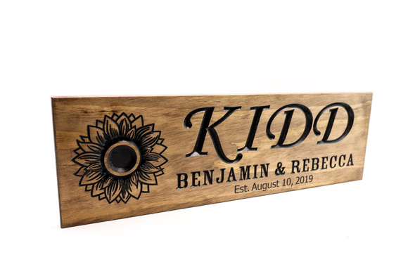 Personalized Wedding Gift for Couple Custom Wood Sign Family Name Sign Wood Anniversary Gift Women Gift Custom Established Sign