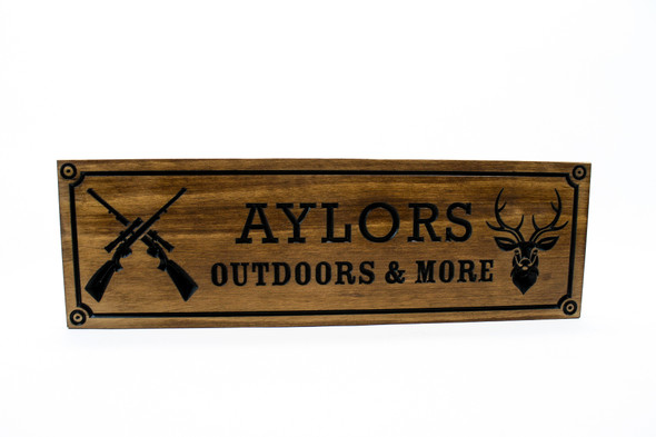 Hunting cabin sign, Hunter wood sign, Riffles and deer sign, Gun Room Sign,Man Cave Sign-Personalized Wood Sign-man cave sign (CWD-694)