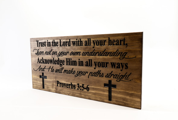 Bible verse Sign-Religious Family Sign-Wedding Sign-Marriage Sign-Custom sign-Personalized Wood Sign-Anniversary Gift-Proverbs 3