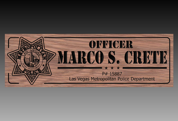 LAS VEGAS Police officer Plaque  (CWD-728)