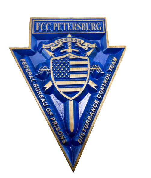Federal  Prison Emblem with FCC Petersberg - Federal Bureau of Prisons sign