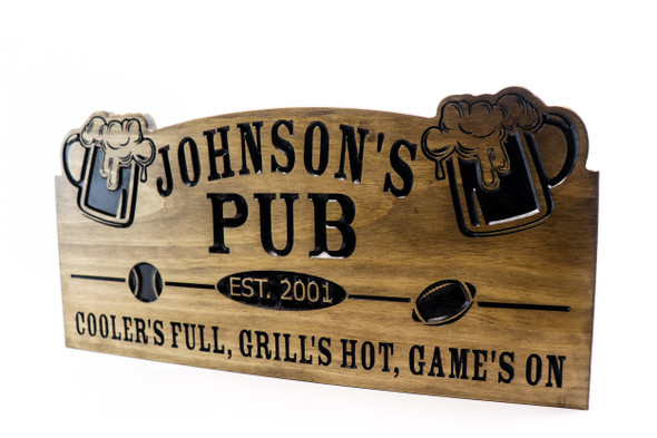 Home Pub sign- wooden bar sign - Camp Sign, Weekend Camping,Personalized Wood Sign, Lake house Sign, Cottage Sign,Anniversary Gift
