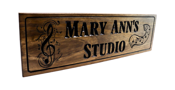 Music Room sign-Music Studio-Piano Room, Piano Teacher, Treble Cleft, music notes