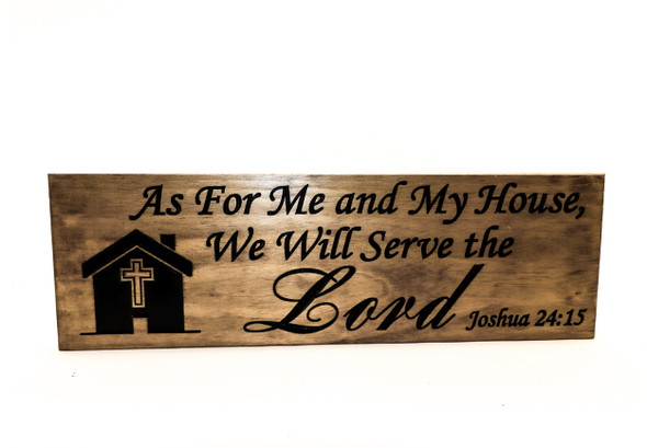 Family Sign-Joshua 24:15, House Warming Gift, Family Motto, Wedding Sign-Marriage Sign-Personalized Wood Sign-Anniversary Gift (CWD-748)