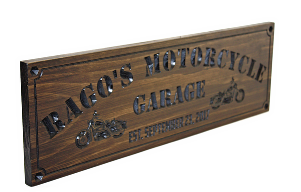 motorcycle garage sign / Man cave sign