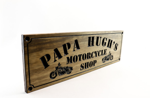 motorcycle garage sign / Man cave sign