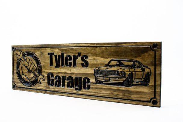 Garage Sign| Man cave sign | Garage shop sign wirth 69 Ford Mustang