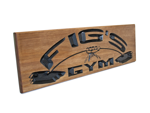 garage gym-home gym sign