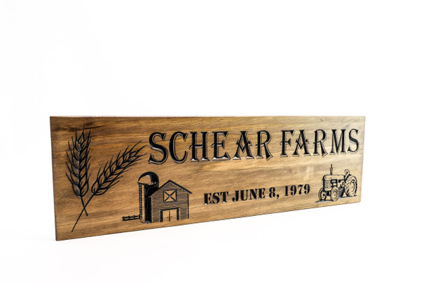 Farm Sign with barn and tractor