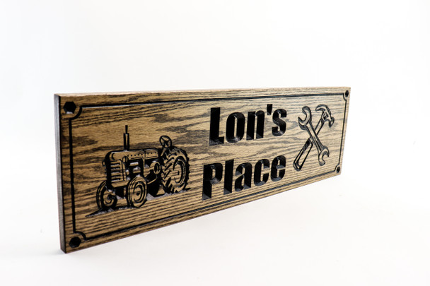 Tractor farm sign, workshop sign, tools, man cave, garage sign