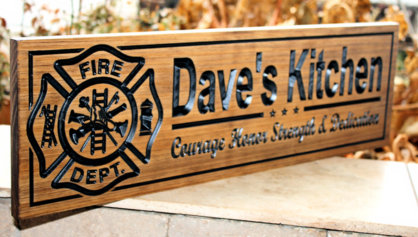Firefighter kitchen Sign
