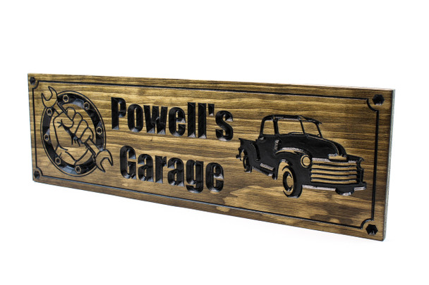 Garage Sign | Garage shop sign for him with vintage dodge   truck