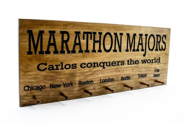 running medal holder for all 6 major marathons
