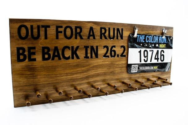 running medal display sign -bib holder sign