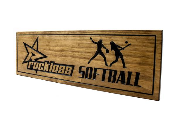 Girls softball team award plaque