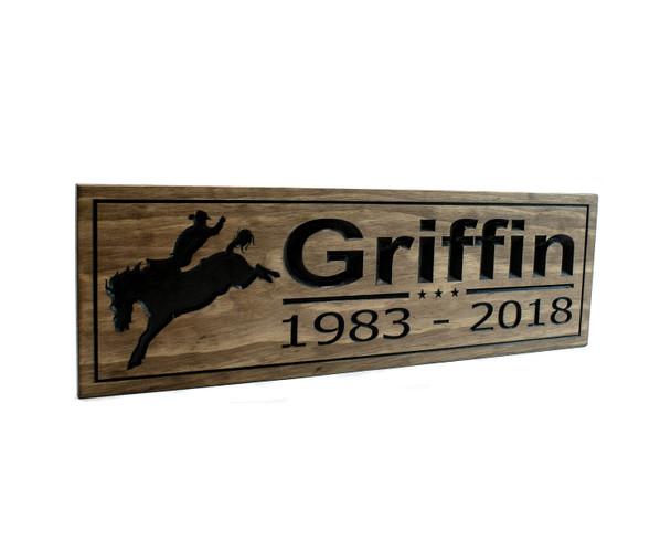 horse farm ranch sign bucking horse cowboy sign