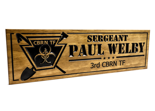 Military sign with custom logo - CBRN TF