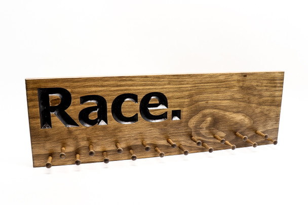 """Running Medal Display """"Race"""" Sign"""